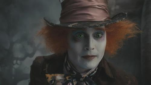 Johnny Depp as the Mad Hatter in Alice in Wonderland by Tim Burton, 2010