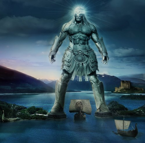 Colossus of Rhodes. One of the versions