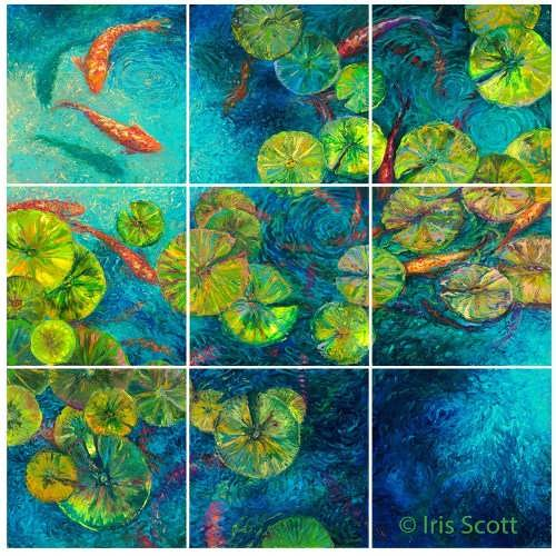 Finger painting by Iris Scott