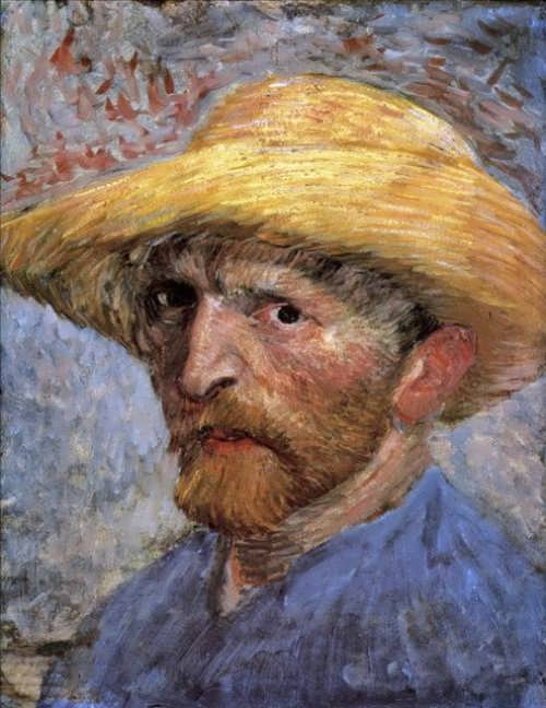 Van Gogh. Self-Portrait with Straw Hat