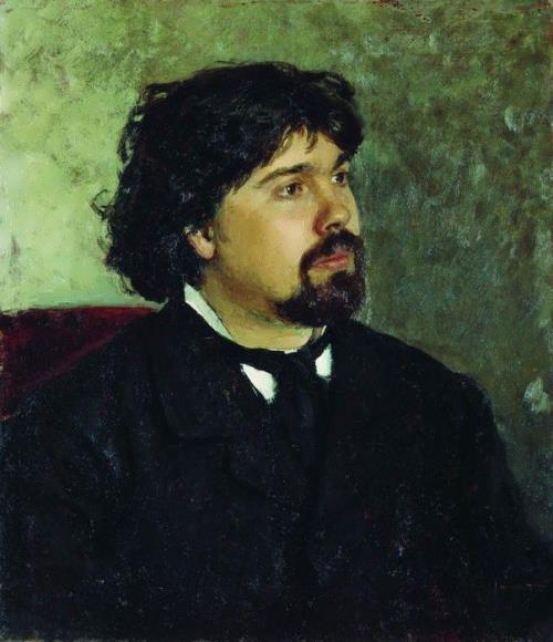 Ilya Repin. Portrait of the Artist Vasily Surikov