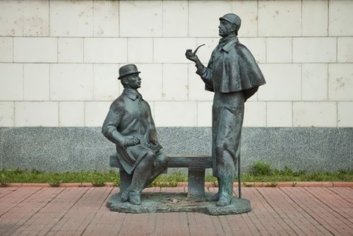 Monument to Sherlock Holmes and Dr Watson
