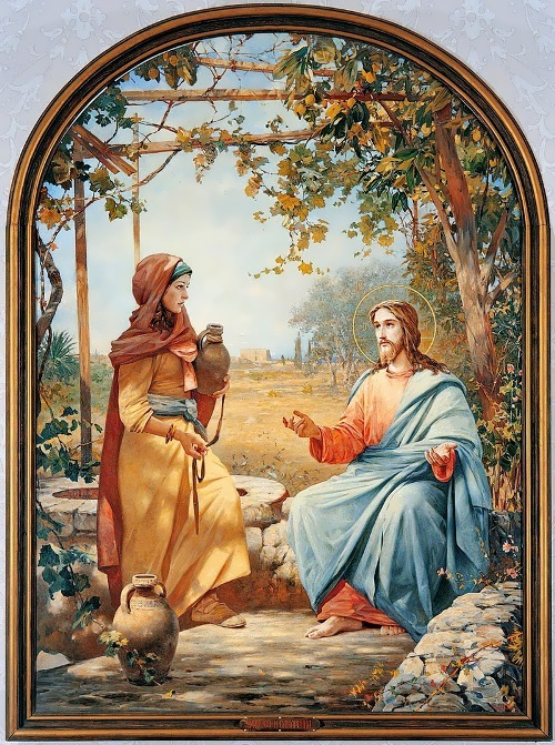 Vasily Nesterenko - Christ and the Samaritan woman