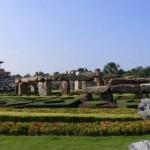 Simplified copy of Stonehenge. Thailand Park Nong Nooch