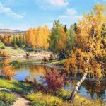 Russian landscape painter Igor Prischepa