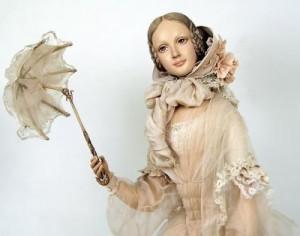 Charming doll by Russian artist Yu. Sochilina