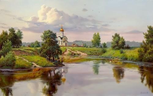 Russian landscape by I. Prischepa
