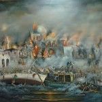 The artist Vasilis Bottas. Tragedy of Smyrna, 1922