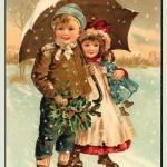 Victorian Christmas Card
