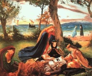 The Death of King Arthur. Artist James Archer, 1860