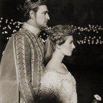 Richard Harris (King Arthur) and Vanessa Redgrave (Guinevere) in the movie Camelot (1968)