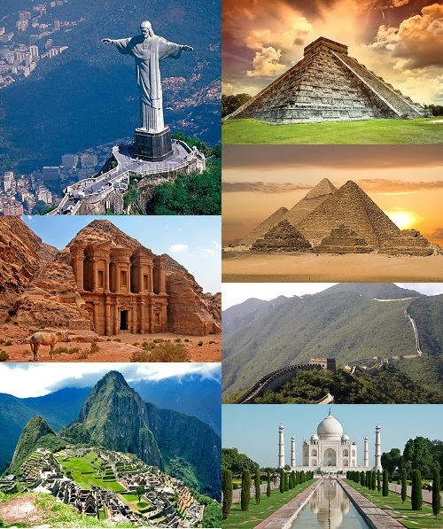 seven wonders Picture gallery of the seven new wonders of the world and the seven ancient wonders.