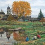 Stanislav Brusilov. Autumn on the River