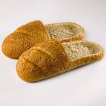 Slippers made of bread