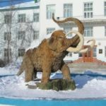 Monument to mammoth in Yakutsk
