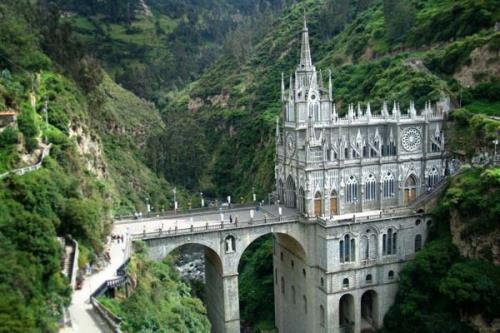 Las Lajas Cathedral in Colombia