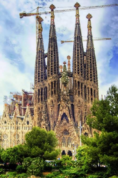 Sagrada Familia Barcelona is still under construction and will be completed no earlier than in 2026