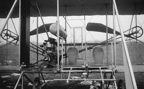 Wright Brothers Plane with two seats, 1911
