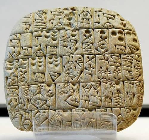 A clay tablet from Shuruppak approx. 2600 BC