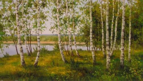 A.Kuritsyn. Birches