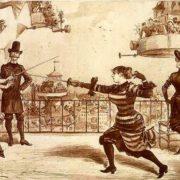 Duel of journalists. Illustrated novel The twentieth century by Albert Robida