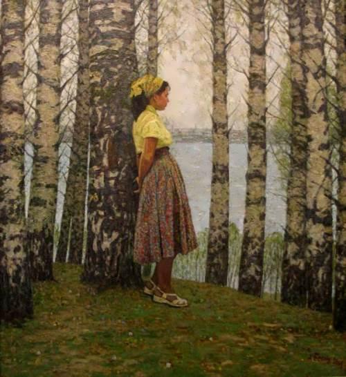 Alex Belykh. Cherished birch. May 1945