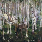 Arkady Rylov. In the forest. 1905