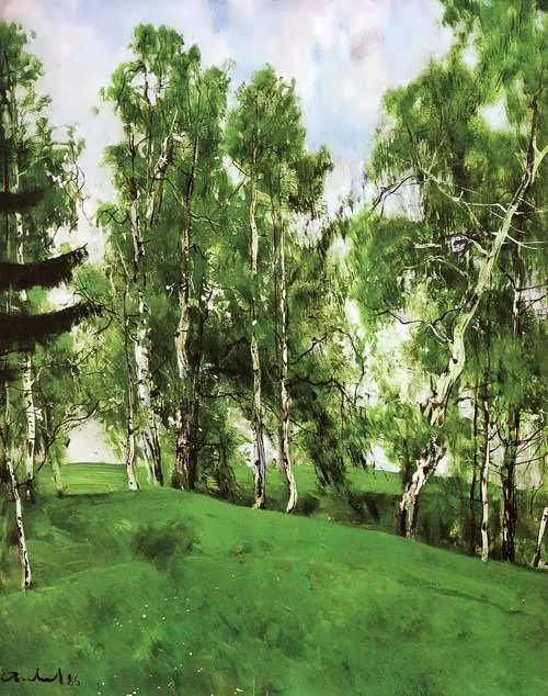 Arkhip Kuindzhi. Birch grove, 1879
