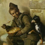 Aurelio Zingoni (1853-1922) Meal Time for the Chimney Sweep 1881