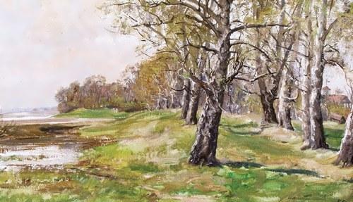 Boris Kozmin. Birch alley