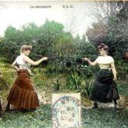 French postcard La rencontre