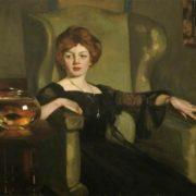 George Henry (Scottish, 1858 - 1943). Lady with goldfish