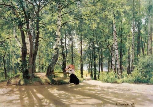 Ivan Shishkin. At the cottage, 1894