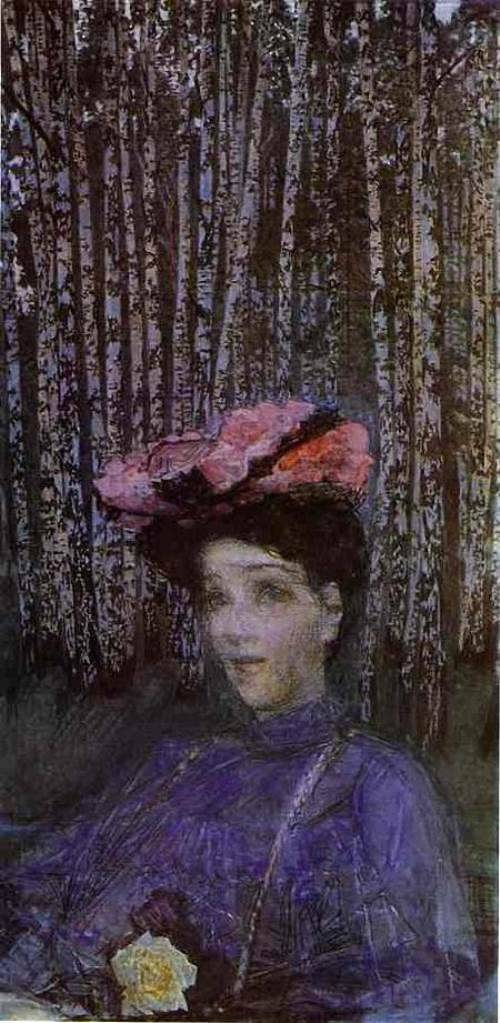Mikhail Vrubel. Portrait of N. Zabela-Vrubel, 1904