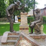 Monument to chimney sweep and bricklayer