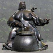 Monument to sparrow Minsk, Belarus