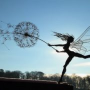 Wire Fairy Dandelion Sculptures Fantasywire by Robin Wight