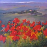 Angelo Quabba. Poppies in Chyanti