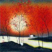 Cranes in paintings
