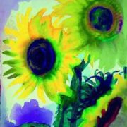 Emil Nodier. Sunflowers