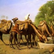 Jean-Leon Gerome. Camels at the Watering