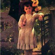 John George Brown. The sunflower girl
