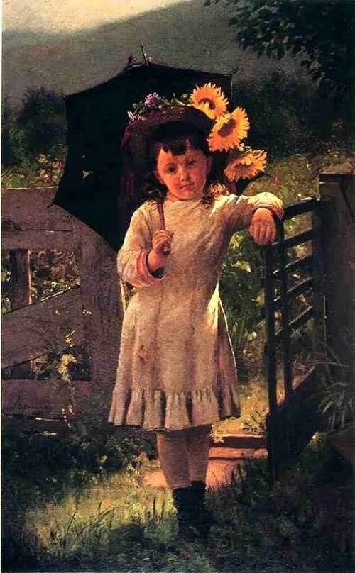 John George Brown. The sunflower girl