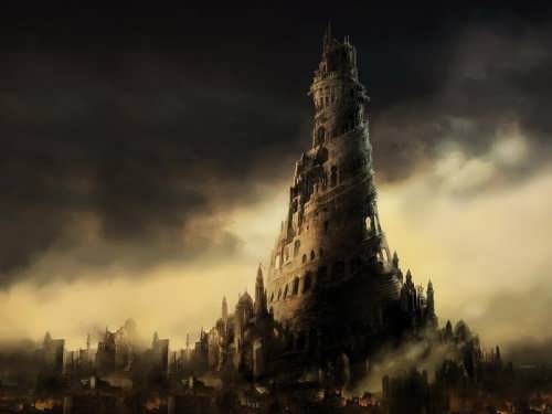 Modern image of the Tower of Babel