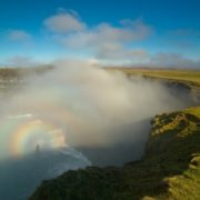 Rainbow near the Cliffs of Moher on the Atlantic coast