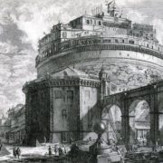 Sant'Angelo Castle on Piranesi engraving, XVIII century
