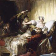 Scene in the bedroom of Marguerite de Valois