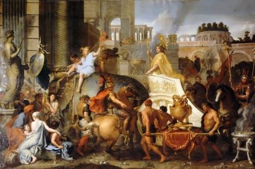 Triumphal Entry of Alexander into Babylon. Charles Le Brun