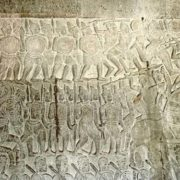 Wall with battle scenes