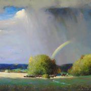 Alexander Shevelev. Landscape with a rainbow